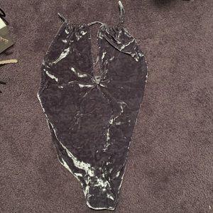 Tops - Crushed velvet bodysuit